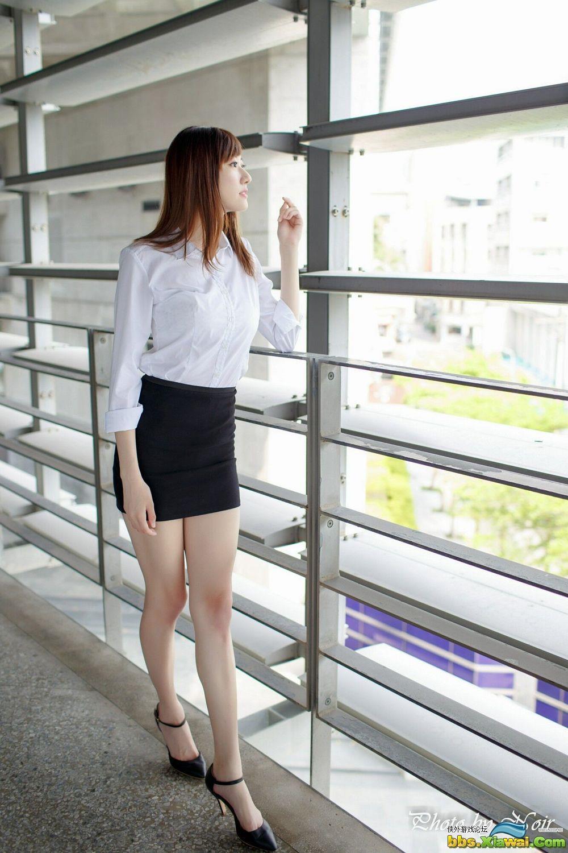 [台湾女神] 蔡译心@林茉晶《OL街拍合辑》 写真集